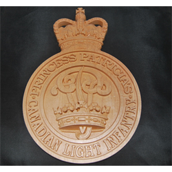 Cap Badge 12.5 in WOOD WORX