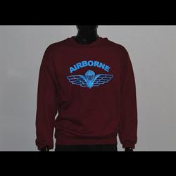PT Airborne Maroon Crew Neck Sweater