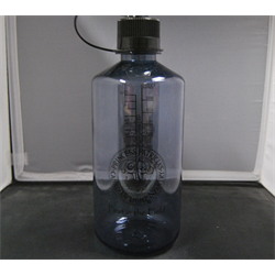 Nalgene, Small Mouth grey clear With Cap Brass/FiF