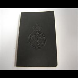 Note book black PPCLI W/capbadge-Small